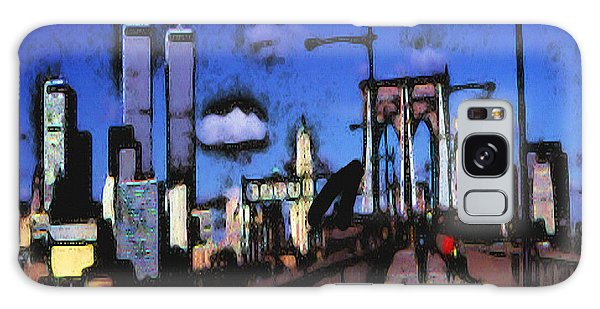 New York Blue - Modern Art Galaxy Case