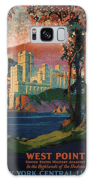 New York Central Lines - West Point - Retro Travel Poster - Vintage Poster Galaxy Case