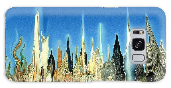 New York City Skyline 2100 - Modern Artwork Galaxy Case