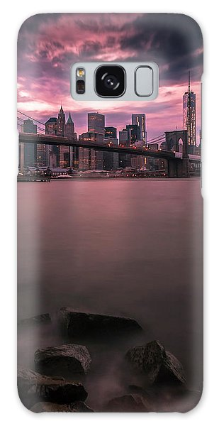 New York City Brooklyn Bridge Sunset Galaxy Case