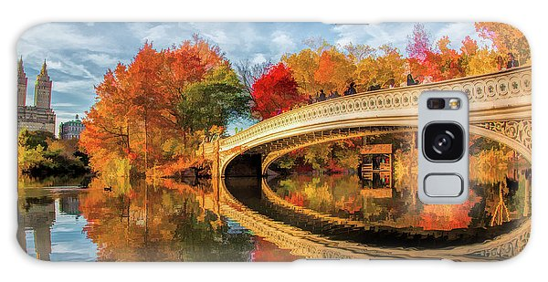 Galaxy Case featuring the painting New York City Central Park Bow Bridge by Christopher Arndt