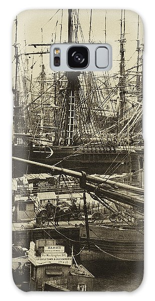 New York City Docks - 1800s Galaxy Case by Paul W Faust -  Impressions of Light