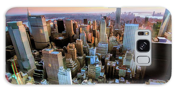 New York City Downtown Manhattan Galaxy Case