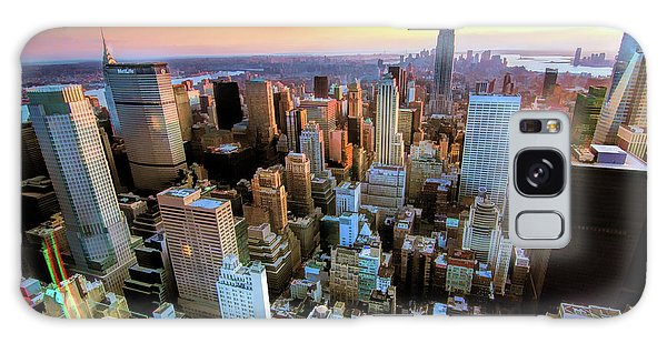 Galaxy Case featuring the painting New York City Downtown Manhattan by Christopher Arndt