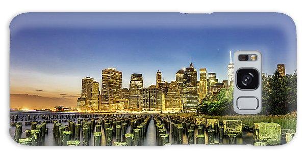 New York City From Brooklyn Galaxy Case