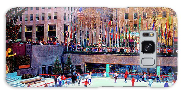 New York City Rockefeller Center Ice Rink  Galaxy Case
