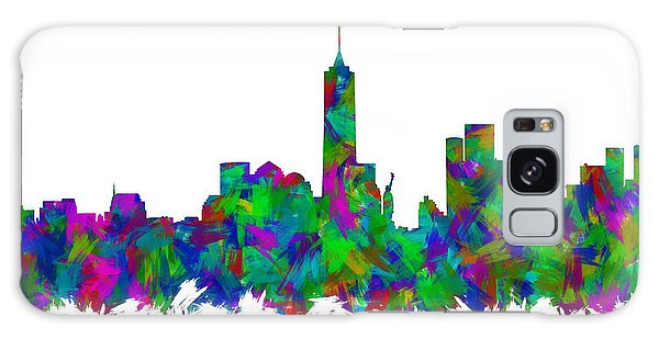 New Trend Galaxy Case - New York City Skyline Abstract Silhouette I by Ricky Barnard