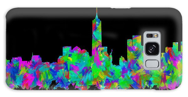 New Trend Galaxy Case - New York City Skyline Abstract Silhouette II by Ricky Barnard