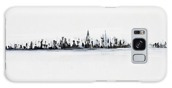 New York City Skyline Black And White Galaxy Case