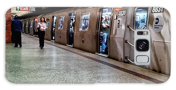 Galaxy Case featuring the photograph New York City Subway Stare by Lars Lentz