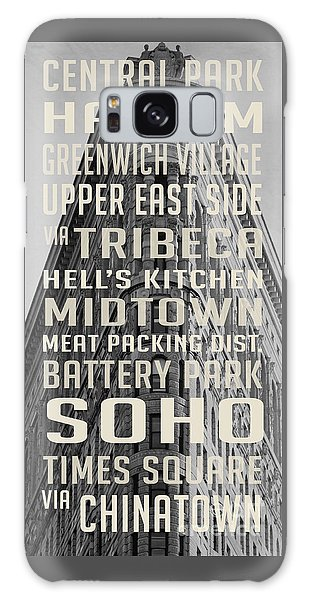 Harlem Galaxy S8 Case - New York City Subway Stops Flat Iron Building by Edward Fielding