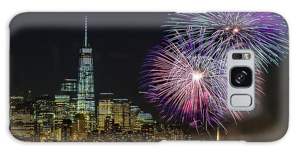 Galaxy Case featuring the photograph New York City Summer Fireworks by Susan Candelario
