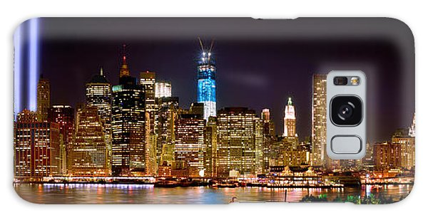 Skylines Galaxy S8 Case - New York City Tribute In Lights And Lower Manhattan At Night Nyc by Jon Holiday