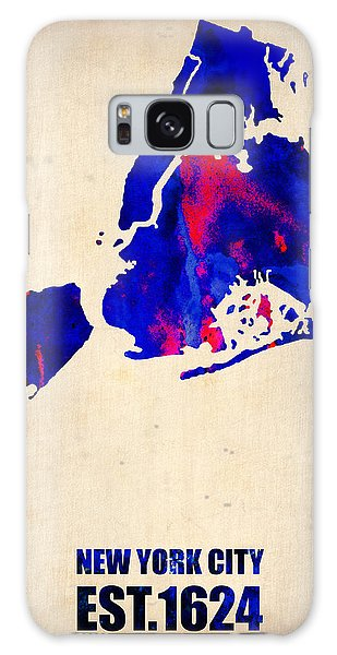 City Scenes Galaxy S8 Case - New York City Watercolor Map 1 by Naxart Studio