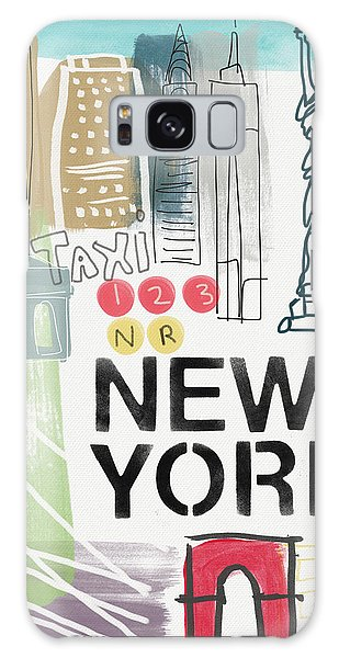 New York Cityscape- Art By Linda Woods Galaxy Case by Linda Woods