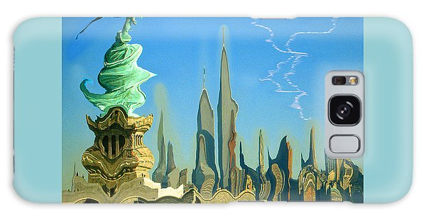 New York Fantasy Skyline - Modern Artwork Galaxy Case