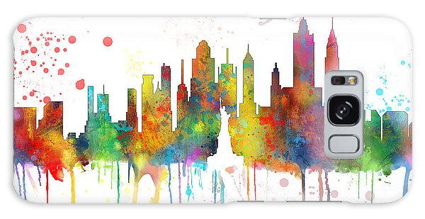 New York Ny Skyline Galaxy Case