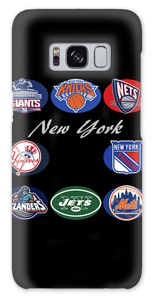 New York Professional Sport Teams Collage  Galaxy Case