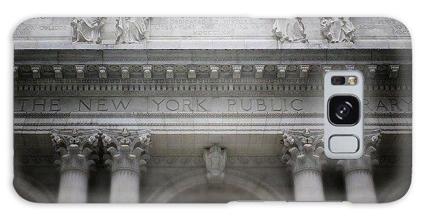 School Galaxy Case - New York Public Library- Art By Linda Woods by Linda Woods