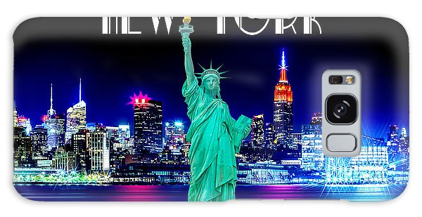 Calendar Galaxy Case - New York Shines by Az Jackson