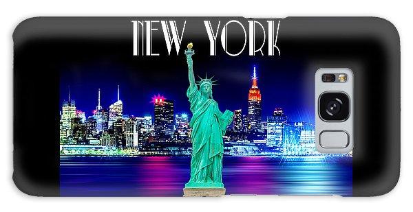 New York Shines Galaxy Case by Az Jackson