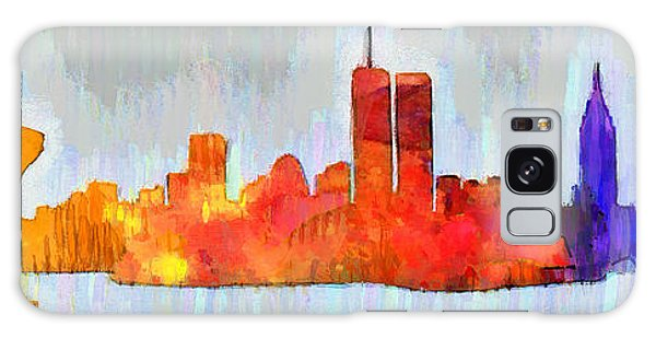 New York Skyline Old Shapes 3 - Pa Galaxy Case