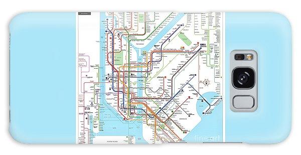 New York Subway Map Galaxy Case