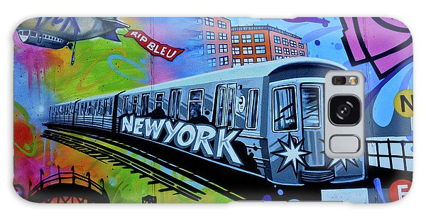 New York Train Galaxy Case by Joan Reese