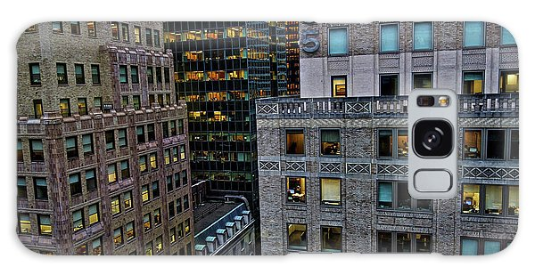 Galaxy Case featuring the photograph New York Windows by Joan Reese