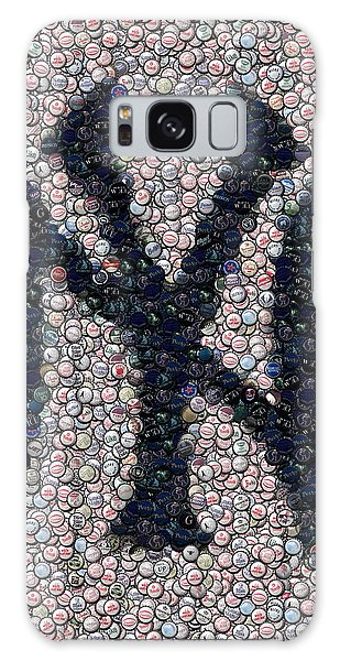 New York Yankees Bottle Cap Mosaic Galaxy Case by Paul Van Scott