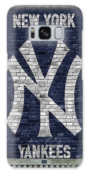 Galaxy Galaxy Case - New York Yankees Brick Wall by Joe Hamilton