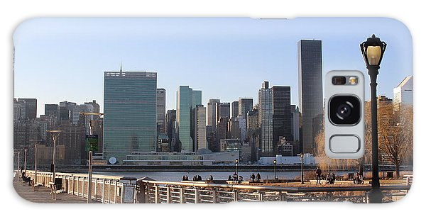 New York's Skyline - A View From Gantry Plaza State Park Galaxy Case