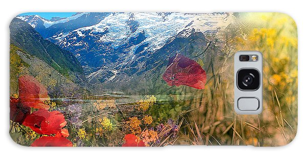 New Zealand Southern Alps Montage Galaxy Case