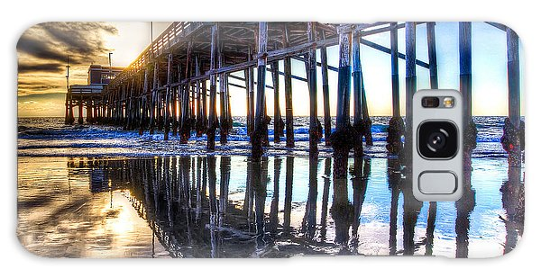 Newport Beach Pier - Reflections Galaxy Case by Jim Carrell