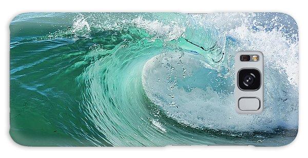 Newport Beach Wave Curl Galaxy Case by Eddie Yerkish