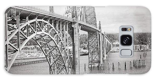 Newport Bridge In Black And White Galaxy Case