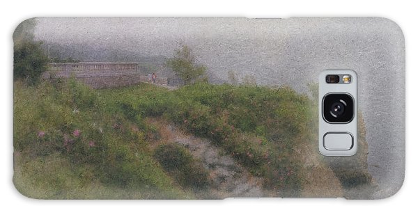 Newport Cliff Walk In The Fog Galaxy Case