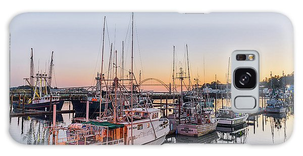 Newport Harbor At Dusk Galaxy Case