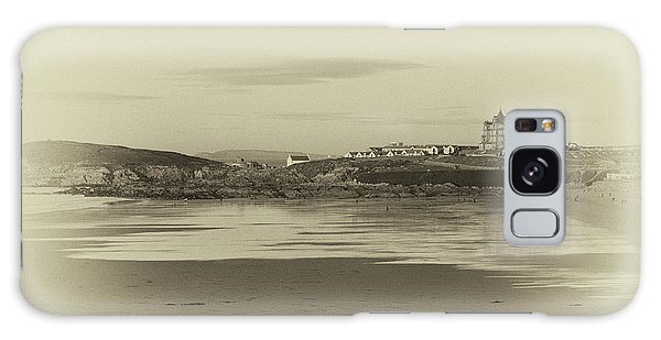 Newquay With Old Watercolor Effect  Galaxy Case by Nicholas Burningham