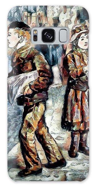 Galaxy Case featuring the digital art Newsboy by Pennie McCracken