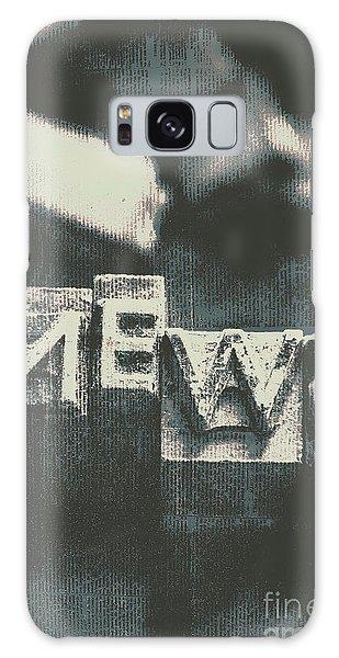 Newspaper Printing Press Art Galaxy Case