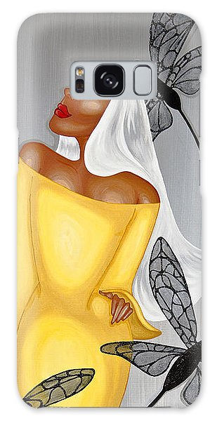 Galaxy Case featuring the painting NIA by Aliya Michelle