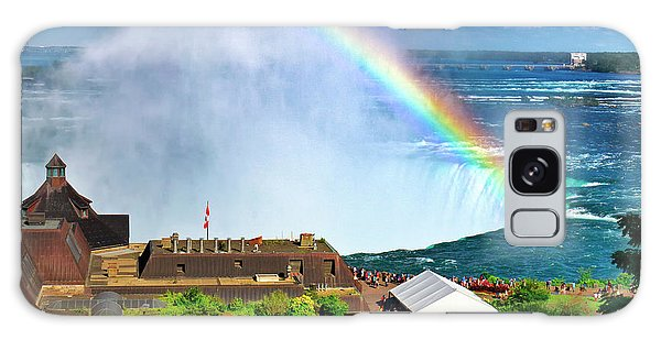 Niagara Falls And Welcome Centre With Rainbow Galaxy Case by Charline Xia