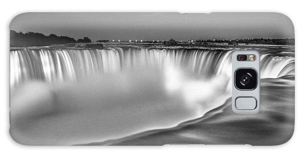 Niagara Falls In Black And White  Galaxy Case