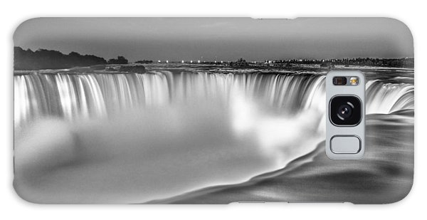 Niagara Falls In Black And White  Galaxy Case