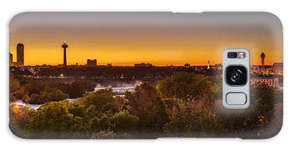 Niagara Falls Twilight From The 9th Floor Galaxy Case by Chris Bordeleau