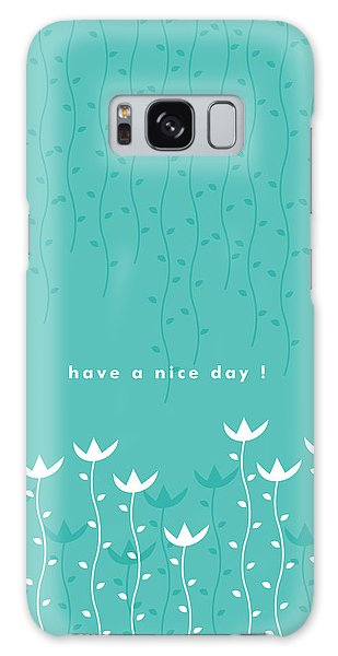 Green Galaxy Case - Nice Day by Kathleen Wong