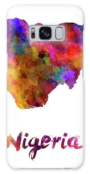 Nigeria Galaxy Case - Nigeria In Watercolor by Pablo Romero