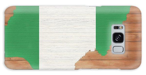 Nigeria Galaxy Case - Nigeria Rustic Map On Wood by Dan Sproul