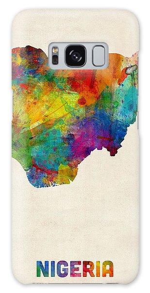 Nigeria Galaxy Case - Nigeria Watercolor Map by Michael Tompsett